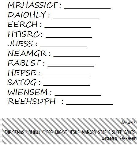 printable christmas anagrams christmas anagram challenges for adults pinterest