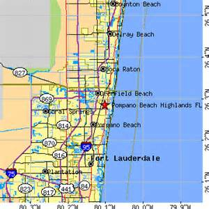 pompano highlands florida fl population data