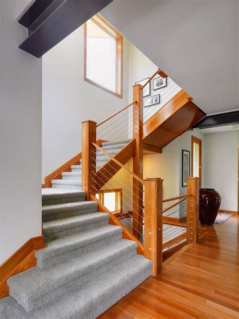 contemporary stair banisters cable banister and railing ideas to design the staircase