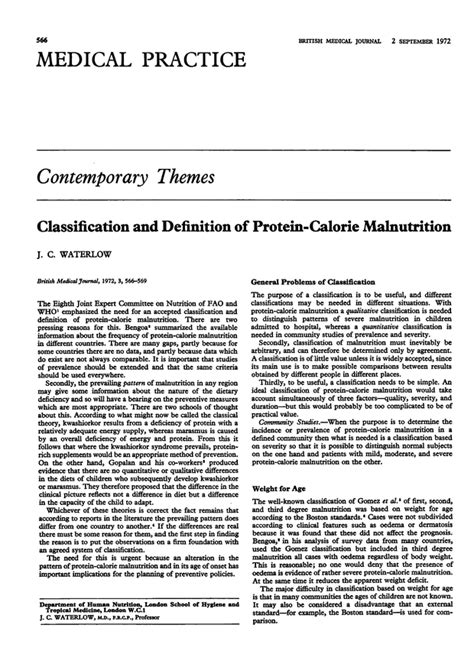 protein calorie malnutrition classification and definition of protein calorie