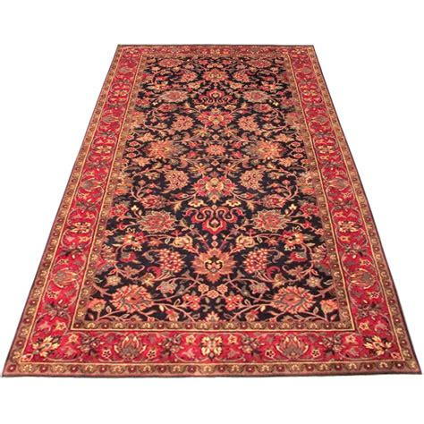 Kashmar Rugs by Size 4 0 Quot X 7 11 Navy And Kashmar Wool Rug From India