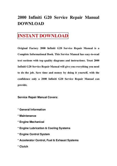 service manual free 2000 infiniti i online manual free auto repair manual for a 2000 2000 infiniti g20 service repair manual download