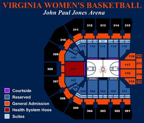 paul jones arena interactive seating chart virginiasports the of virginia official
