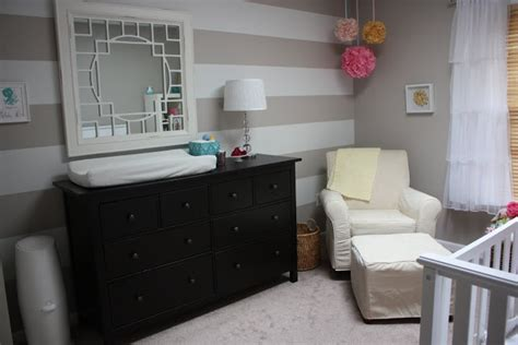 Brown Crib White Dresser by White Crib And Black Brown Dresser Nursery Ideas