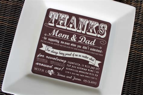 Wedding Parents Gifts by Parent Gifts Wedding Gift For Parents Plate Thank You