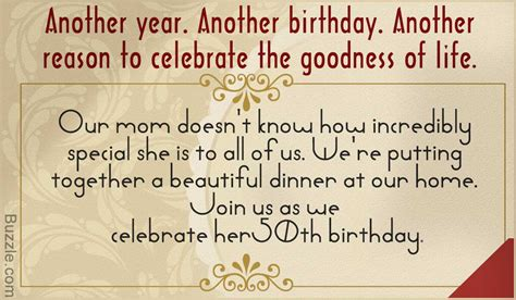 How To Determine Wording Of Wedding Invitations by Wording For A 50th Birthday Invitation All