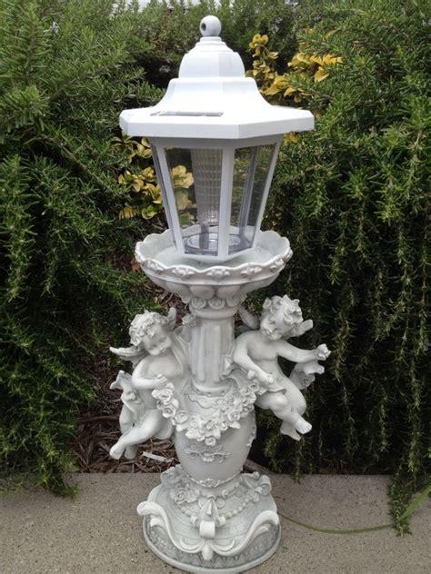 Outdoor Garden Decor Angel Cherub Sculpture Solar Light Ebay