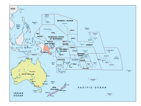 map of oceania countries oceania ppt powerpoint maps open office