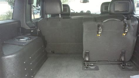 hummer h2 subwoofer box subwoofer install inside boot compartment hummer forums
