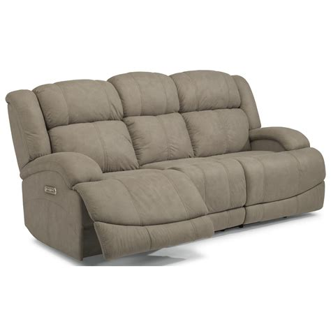 power reclining sofa with usb flexsteel latitudes declan casual power reclining sofa
