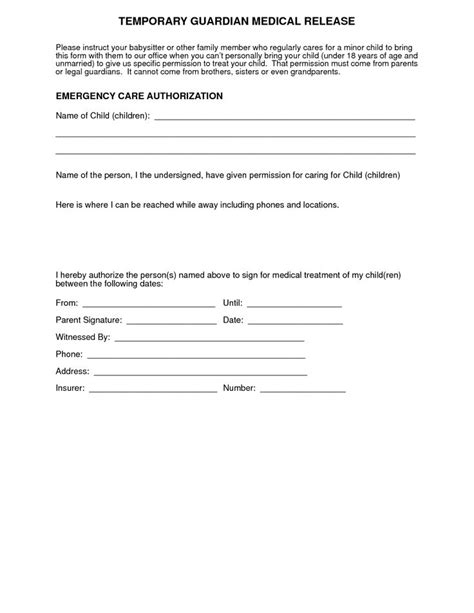 editable medical consent letter for grandparents fill out print