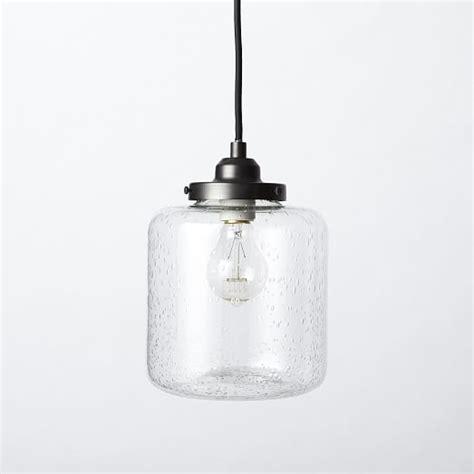 west elm pendants bubble glass jar pendant short west elm