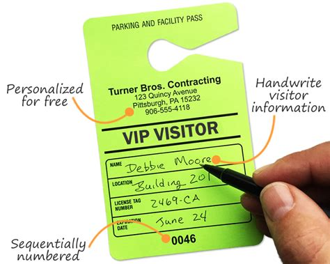 Temporary Parking Passes Customize Online Visitor Parking Pass Template