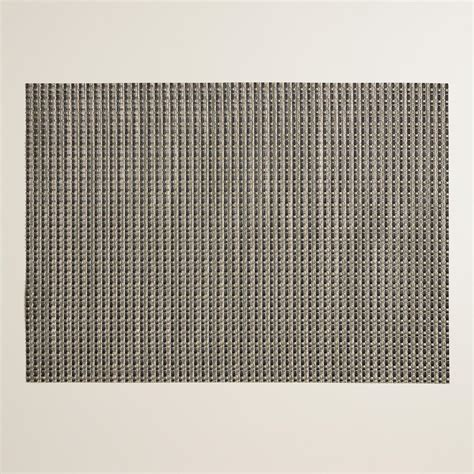 Woven Vinyl Placemats Wholesale Plastic by Black And Green Alto Woven Vinyl Placemats Set Of 4
