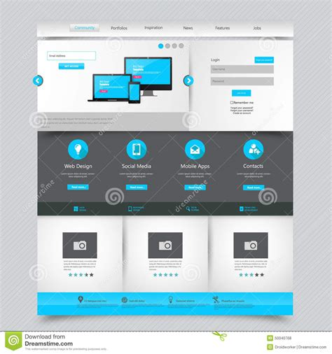 free home page design business website template home page design clean and