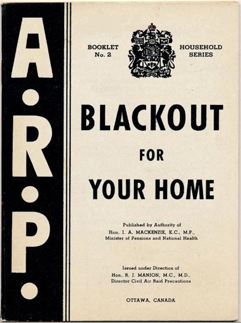 world war 2 posters blackout blackout for the home wartime canada