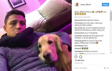 alexis sanchez instagram alexis sanchez transfer chilean forward sick as arsenal