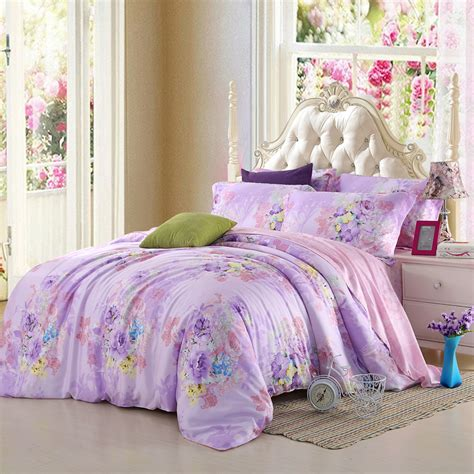lavender bed sheets light purple lilac mauve lavender bedding set floral queen