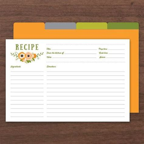 printable recipe card dividers 25 best ideas about recipe cards on pinterest printable