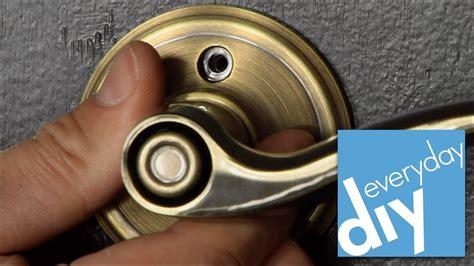 Weslock Door Knob Removal by How To Replace Door Hardware Buildipedia Diy