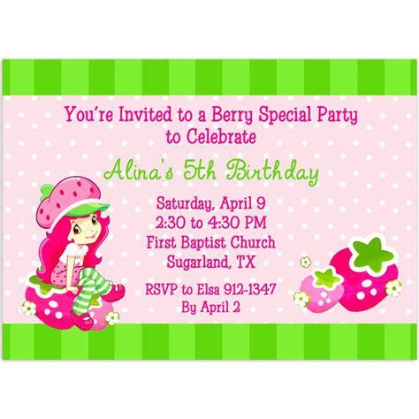 Strawberry Shortcake Birthday Invitations Printable Strawberry Shortcake Invitation Template Free