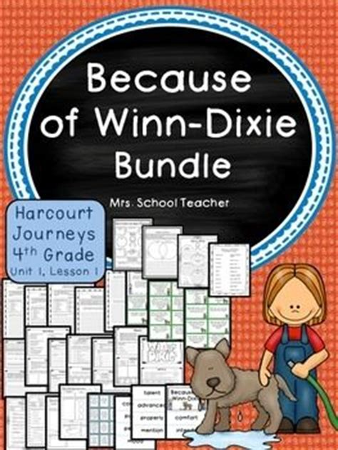 because of winn dixie book report ideas language arts lesson plans for 4th grade book report