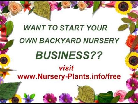 how to start a profitable backyard plant nursery pdf starting a backyard nursery business for profit youtube
