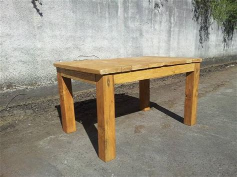 recycled pallet dining table recycled pallet wood dining table