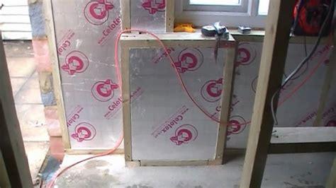 studwork  insulation  garage conversionwmv youtube