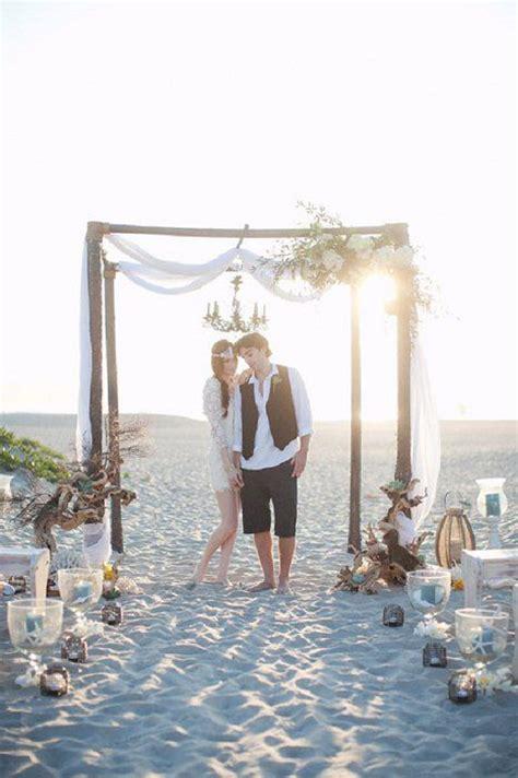 relaxed boho chic beach wedding ideas weddingomania