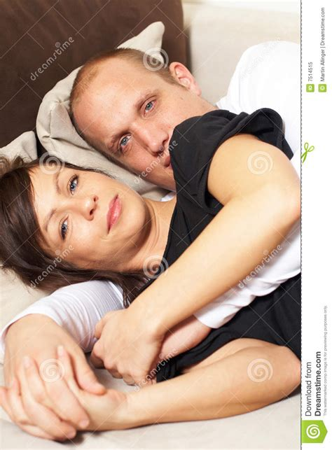 couple making love on couch chilling time on the couch royalty free stock photo