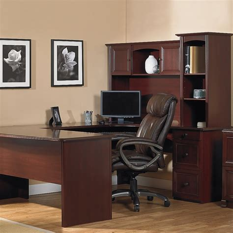 U Shaped Desk Office Depot Realspace Broadstreet Contoured U Shaped Desk 30 H X 65 W X 28 D Desk With 92 L Connecting