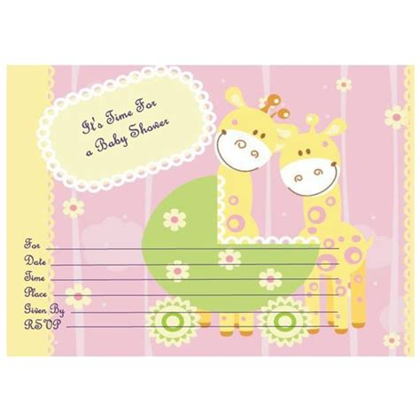 baby shower card template microsoft word free baby shower invitation templates microsoft word