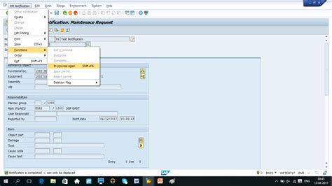 tutorial sap pm sap maintenance notification tutorial free sap pm training