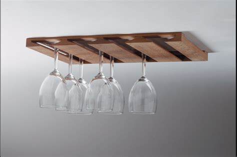 Wineglass Racks by Whitecap 62425 Teak Overhead Wineglass Rack Whitecap