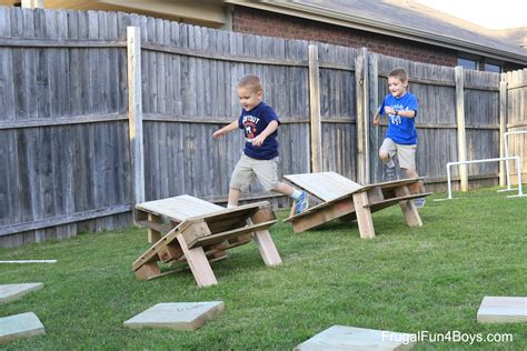 obstacle course backyard diy american ninja warrior backyard obstacle course