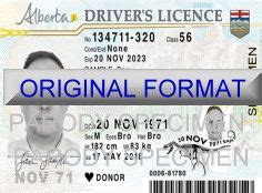 Alberta Canada Driver License Format Appscanner Canadian Auto Id Card Template