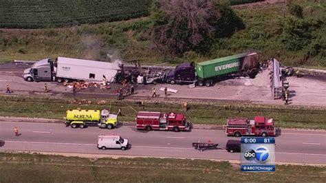 car crash in illinois 3 dead in fiery crash on i 80 near ottawa ill abc7chicago