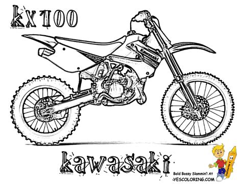 Dirt Bike Coloring Page rider dirt bike coloring pages dirt bike free
