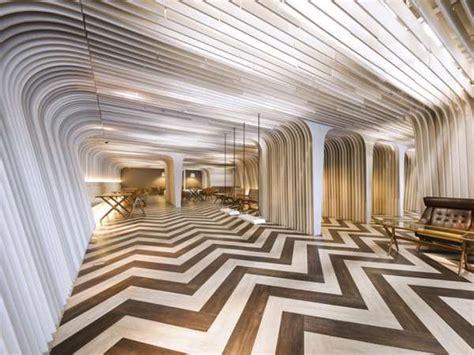 optical illusion interiors bangkok university bu lounge