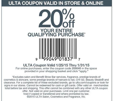 ulta printable coupon aug 2015 ulta coupons 20 off at ulta or online via promo code