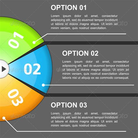 design template with three options graphicriver
