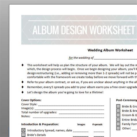 design technology cover worksheets wedding album design worksheet instructional video the