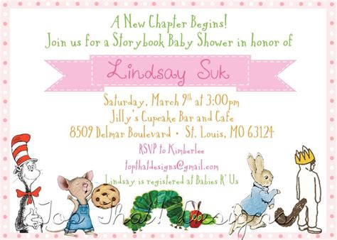 Storybook Themed Baby Shower Invitation Wording by Storybook Themed Baby Shower Invitations Storybook Themed