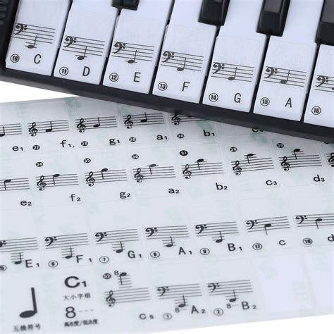 piano and keyboard note stickers transparent 49 61 key electronic keyboard 88 key piano