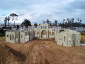Poured Concrete Home concrete home construction using alminum forms