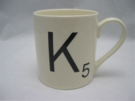 5 Letter Words Associated With Coffee scrabble coffee mug cup letter k 5 and 50 similar items