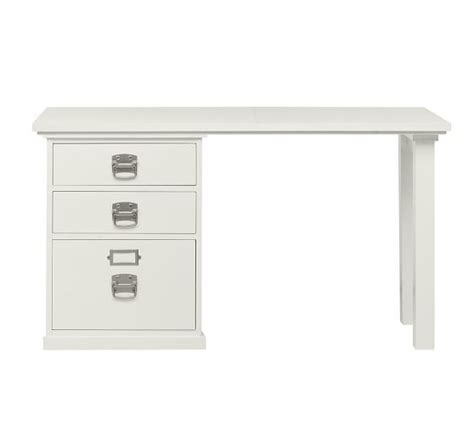 Bedford Small Desk Bedford Small Desk Antique White Pottery Barn