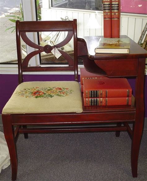 antique telephone table bench pin by linda lowe on telephone table seat pinterest