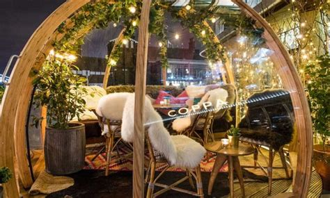 dine in a heated igloo on the banks of london s river dine inside these igloos in london destinasian